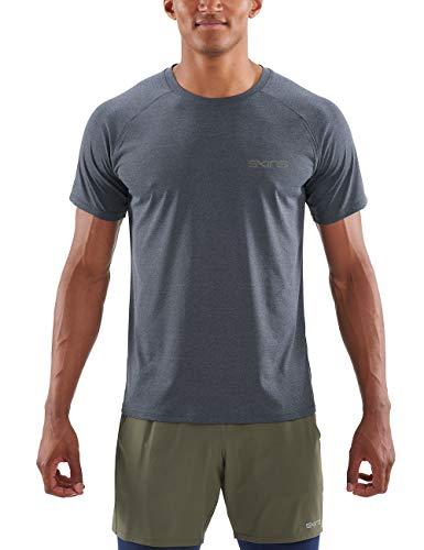 Skins Herren Activewear Bergmar Mens Active Top S/s Round Neck Navy Blue kurzärmelig, Marle, Medium