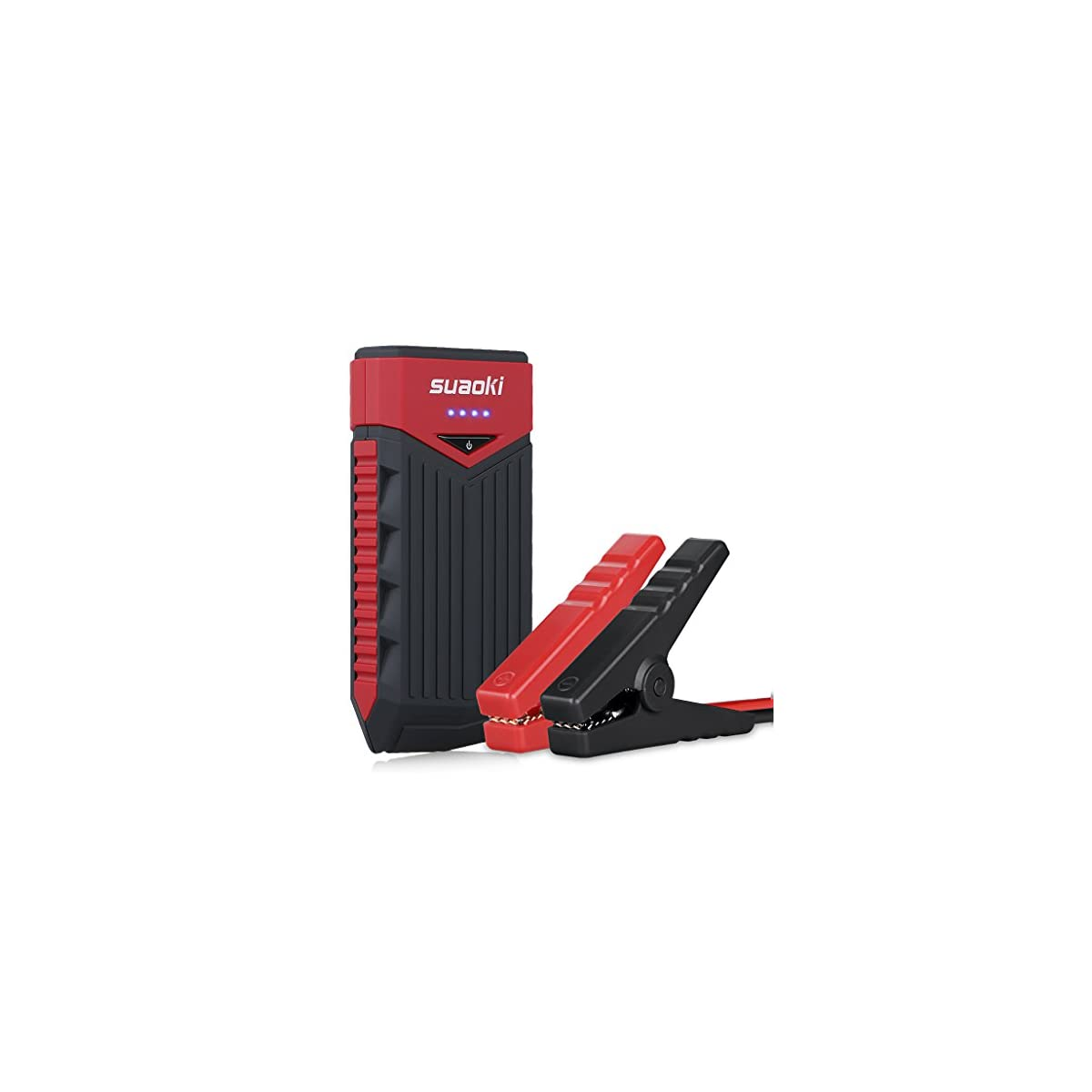 41baK8O671L. SS1200  - SUAOKI T10 - Arrancador de Coche 12000mAh, 400A Jump Starter Cargador de 12V Batería para Vehículo (Batería Externa, LED, Arranque Kit para Coche con Pinzas Inteligentes) Negro&Rojo