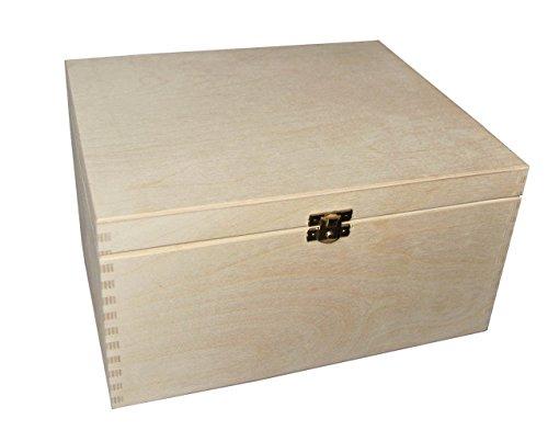 Scatola di legno senza disegni per custodire ricordi o gioielli decoupage 29 x 25 x 15 cm (P29/15)