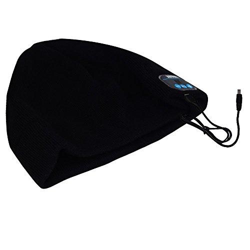 August EPA20 – Berretto Audio Bluetooth Stereo – Berrettino Termico Bluetooth con Cuffie Integrate, Microfono e Batteria Ricaricabile – Caldo e Morbido, Compatibile con Smartphone / PC / Tablet - 5