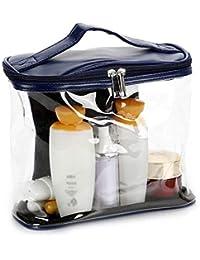 Preisvergleich für Kosmetiktaschen, tragbar, transparent, Kosmetiktasche, Make-up-Taschenset, tragbar, transparent, PVC-Tasche, Handtaschen-Organizer-Kit...