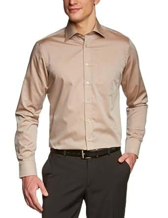 Seidensticker Herren Businesshemd Regular Fit 184440, Gr. 38, Braun (26 braun)