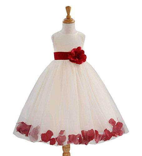 Lemonkid® Maxikleid mit Blumenblatt-Rüschen, Satin, Netzstoff, für Kinder und Mädchen Gr. 100 cm/2-3 Jahre, - Bubble Wrap Kostüm