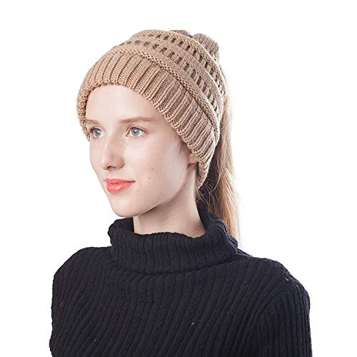 Lekuni Gehäkelte Wollmütze für Damen und Mädchen Street Classics cozy fit Beanie mit weichem gefüttert für warme Ohren relax fit (MZ,KAQI), Beige, Einheitsgröße