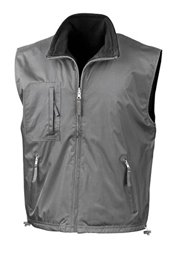 Ergebnis Reversible Bodywarmer Fleece aktiv - Slate Grey/Black