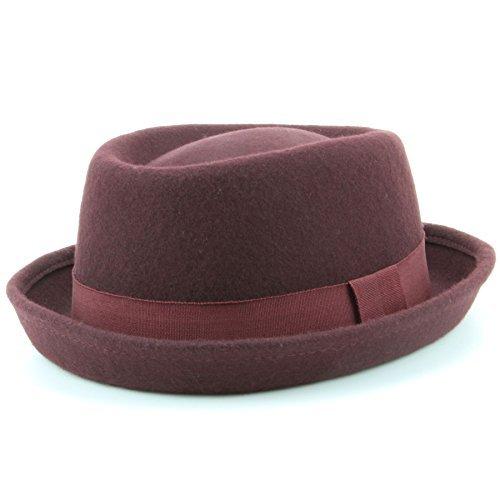 Herren Wolle Filz Hut im Heisenberg Stil - Farbauswahl - Kastanie, M/L - (Fedora Für Hüte Verkauf)