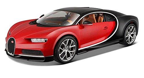 2016 Bugatti Chiron [Bburago 11040R], Rouge, 1:18 Die Cast