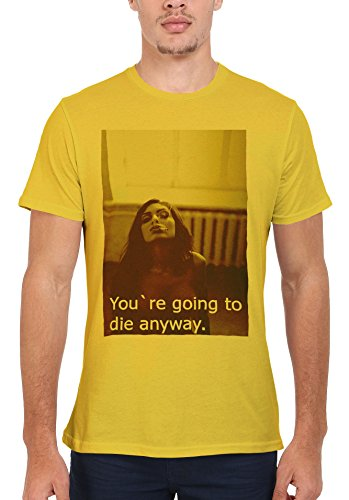 You Are Going To Die Anyway Smoking Men Women Damen Herren Unisex Top T Shirt Licht Gelb