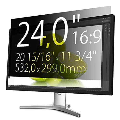 Xianan 24 Zoll 16:9 Breitbild Bildschirmfilter Displayfilter Displayschutz Blickschutzfolie Sichtschutzfolie Privacy Filter 20,94x11,77zoll/532x299mm