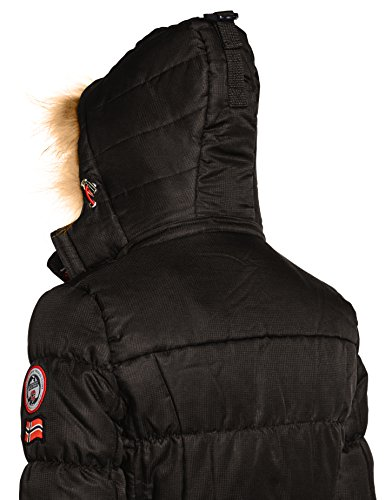 Geographical Norway West Long Lady, Parka Donna Nero