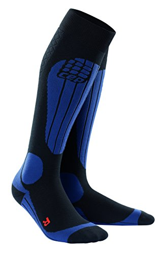 CEP pro+ ski thermo socks for men III black-deepblue (Knöchel-schlauch)