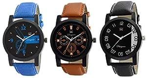 Om Designer Analogue Multi Color Dial Men's Watch wTc-586