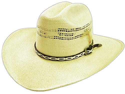 53e4111ae Modestone Unisex Feather Bangora Straw Chapeaux Cowboy 56 Off-White