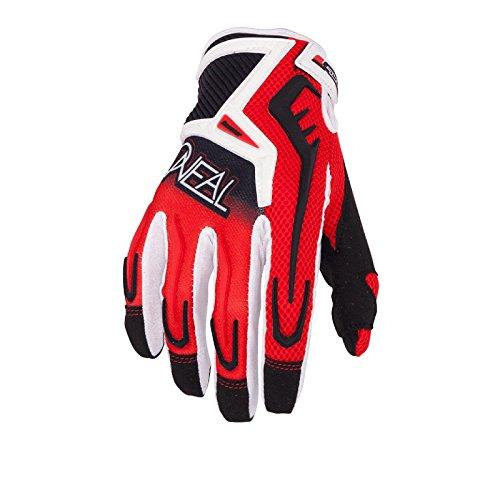 O'Neal Reactor MX Handschuhe Schwarz Rot Motocross Enduro Cross Motorrad Quad MTB, 0471-7, Größe XX-Large -
