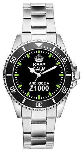 Geschenk für Kawasaki Z1000 Motorrad Biker Fans Fahrer Kiesenberg Uhr 2104 (Fahrer Kawasaki)
