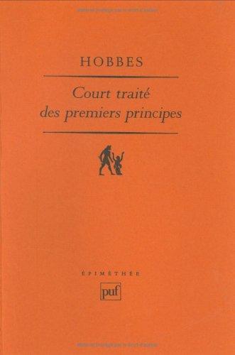Court traité des premiers principes : Le Short Tract on First Principles de 1630-1631
