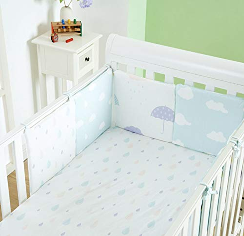 LY-LD Baby Bed Bumper Sets von 6-Piece, Soft Breathable Cotton Kissen Krippenschutz für 0-36 Monate Säugling,A
