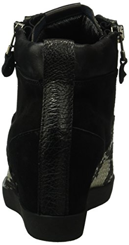 Kennel und Schmenger Schuhmanufaktur  Soho, Sneakers Basses femme Multicolore (schwarz/grey Sohle schwarz 420)