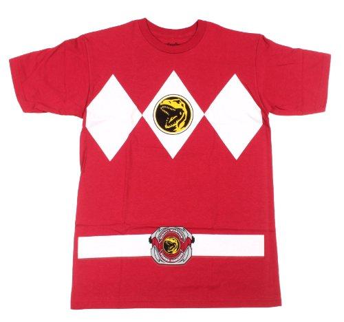 wachsene Ranger Kostüm Rot T-Shirt Tee (XX-Large) ()