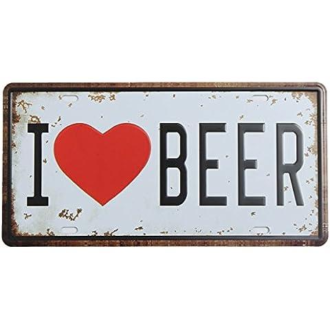 Cerveza Placa Cartel de chapa de metal de la vendimia de la placa de Poster Bar Pub Inicio decoraci—n de la