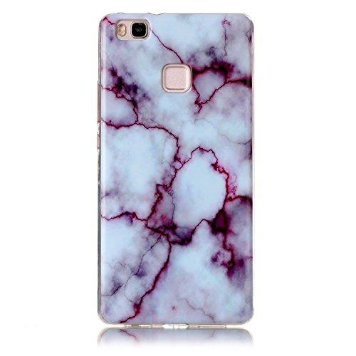 Voguecase® für Apple iPhone 7 Plus 5.5 hülle, Schutzhülle / Case / Cover / Hülle / TPU Gel Skin (Marmor/Schwarz) + Gratis Universal Eingabestift Marmor/Fuchsia
