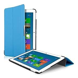 kwmobile Slim Smart Cover Custodia Rigida Protezione per Acer Iconia Tab 10 (A3-A20) in blu chiaro