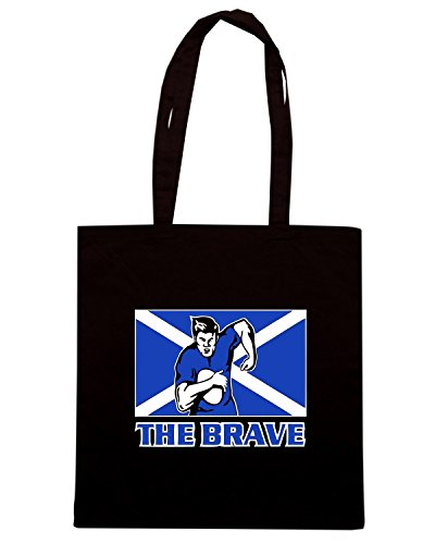 T-Shirtshock - Borsa Shopping TRUG0138 rugby scotland logo Nero