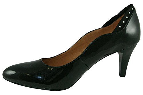Caprice Womens 9-22400-29 Patent Leather Shoes black patent