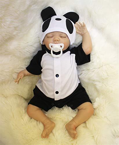 ZIYIUI 20 Inch Realista Dormir Reborn Muñecos bebé Reborn Niño Silicona Bebe Reborn Babys Dolls Ojo Cerrado Recién Nacido Niños Regalo Juguetes 50 cm