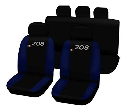 Lupex Shop 208.N.BS Coprisedili Bicolore, Nero/Blu Scuro