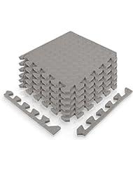 diMio Sport-Schutzmatten - Puzzlematten inkl. Randstücken in verschiedenen Größen und Farben - Schutzmatte / Unterlegmatte / Fitnessmatte / Bodenschutz Matte