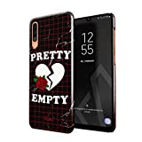 Glitbit Cover per Samsung Galaxy A50 Case Pretty Empty Heart Emo Pastel Pale Indie Alternative Tumblr Sad Black Marble Feminist Girl Gang Sottile Guscio Resistente in Plastica Custodia Protettiva