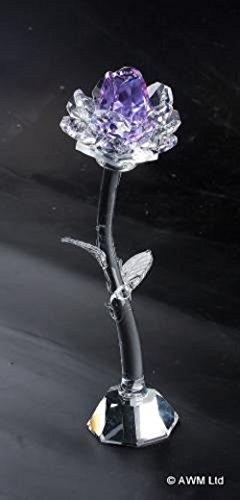Viola chiaro Crystal Rose fiore ornamento in confezione regalo da collezione colori AW