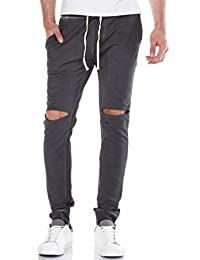 Red Bridge Herren Destroyed Jogginghose Pant Anthrazit