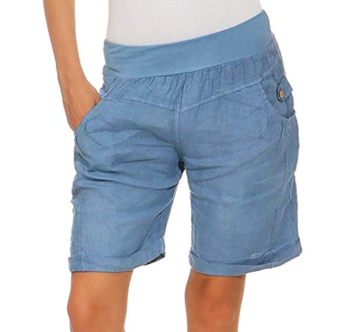 Damen Leggings Yoga Hose Sporthose Laufhose Training&Fitness mit Taschen Yoga Fitness Shorts Yogahosen Shorts