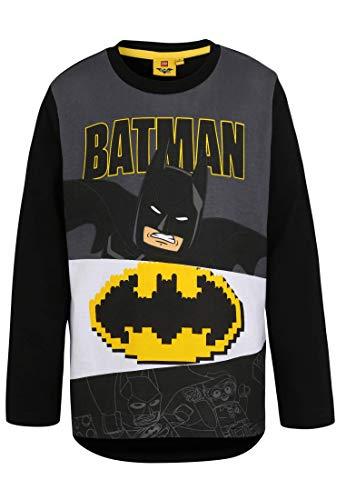 Kostüm Kind Tshirt Batman - LEGO Batman Jungen 2251 T-Shirt, Schwarz, 128