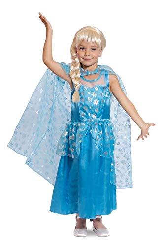 Folat 63216 Ice Princess Kleid-Kind, Größe 98-116, blau (Sonic Kinder Kostüme)
