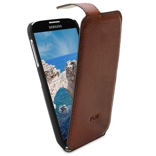 PLM Support en cuir flip case cover Anamur avec fonction support marron