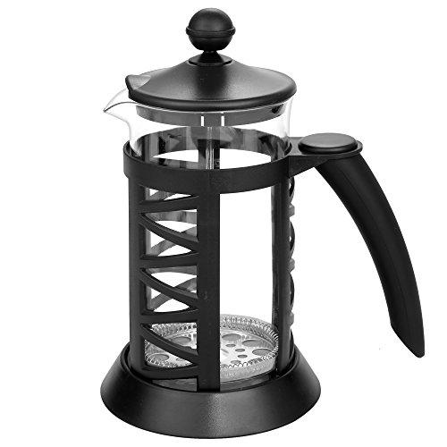ZEARO 1L Französisch Kaffeekanne Kaffeebereiter Press Kaffee Tee Maschine Hitzebeständigem Glas mit Edelstahl Plunger Deckel