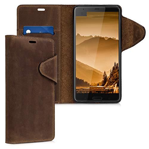 kalibri HTC U Ultra Hülle - Leder Handyhülle für HTC U Ultra - Handy Wallet Case Cover