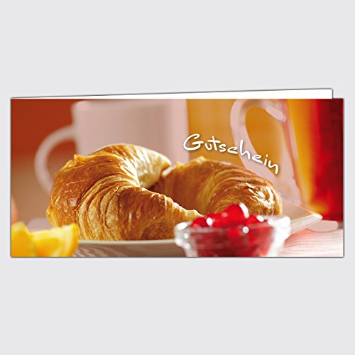 """Gutschein Bäckerei """"Hörnchen"""" – Format: DIN Lang, 50 Stück"""
