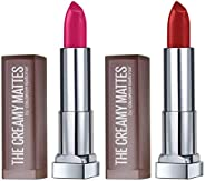 Maybelline New York Color Sensational Creamy Matte Lipstick, 680 Mesmerizing Magenta, 3.9g and Maybelline New