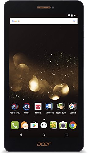 Acer Iconia Talk S (A1-734) 17,78 cm (7 Zoll HD Touch IPS) LTE Tablet-PC (1,3 GHz Quad-Core, 2GB RAM, 32GB, GPS, Bluetooth, MicroSD, micro-USB mit OTG, LTE, UMTS, Android 6.0, Multi-Touch) schwarz