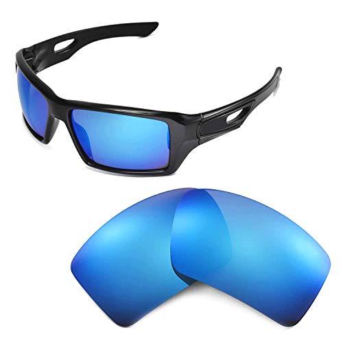 Walleva Ersatzgläser für Oakley Eyepatch 2 Sonnenbrille - Mehrfache Optionen (Eisblau beschichtet - polarisiert)