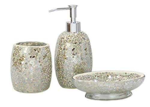 cimc-home-ensemble-3-accessoires-de-salle-de-bain-argente-mosaique