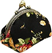 Zegeey Women's Retro Vintage Flower Small Wallet Hasp Purse Clutch Bag Animal Wallet Card Holder Coin Purs