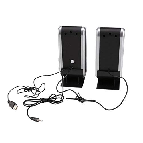 Jasnyfall Computer Multimedia-Stereo-Lautsprecher HY-218 Portable USB Stereo Soundbox schwarz