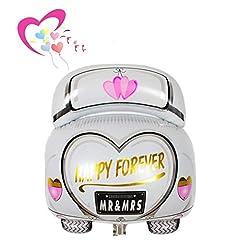 Idea Regalo - Ximkee 61cm Happy Forever Mr & Mrs matrimonio auto foil Balloons for wedding party Kids 'Toy Gift