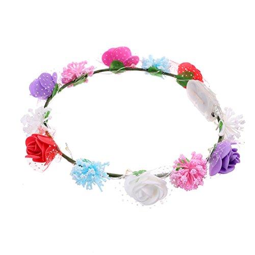 is leuchten blinkende hawaiianische Lei Blumen Halskette Urlaub dekorative ()