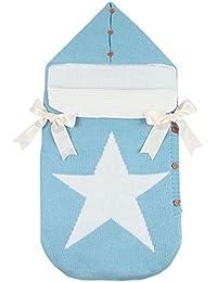 Silveroneuk - Saco de dormir para bebé con capucha, diseño de pentagrama
